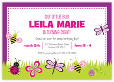 Lil' Bug Card In Bright Pink
