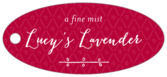 Lucky in Lace oval hang tags