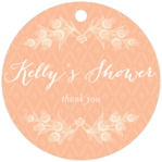 Lucky in Lace circle hang tags