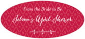 Lucky in Lace oval labels