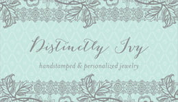 Lucky in Lace business cards