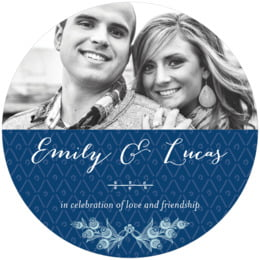 Lucky in Lace round coasters