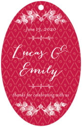 Lucky in Lace large oval hang tags