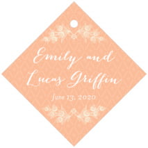Lucky in Lace diamond hang tags