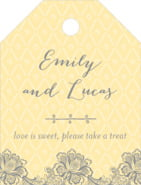 Lucky in Lace small luggage tags