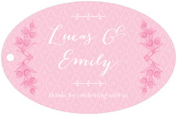 Lucky in Lace wide oval hang tags