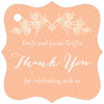 Lucky in Lace fancy square tags