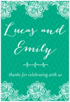 Lucky in Lace tall rectangle labels