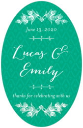 Lucky in Lace tall oval labels