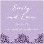 Lucky in Lace square labels
