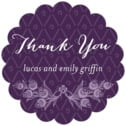 Lucky in Lace custom labels