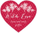 Lucky in Lace heart labels