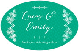 Lucky in Lace large oval labels