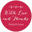 Lucky in Lace small round labels