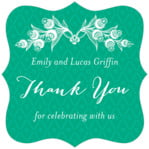 Lucky in Lace fancy square labels