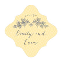 Lucky in Lace fancy diamond labels