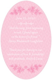 Lucky in Lace oval text labels