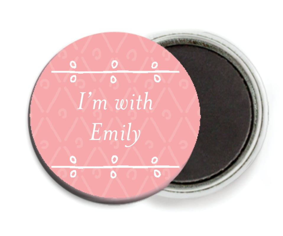 custom button magnets - grapefruit - lucky in lace (set of 6)