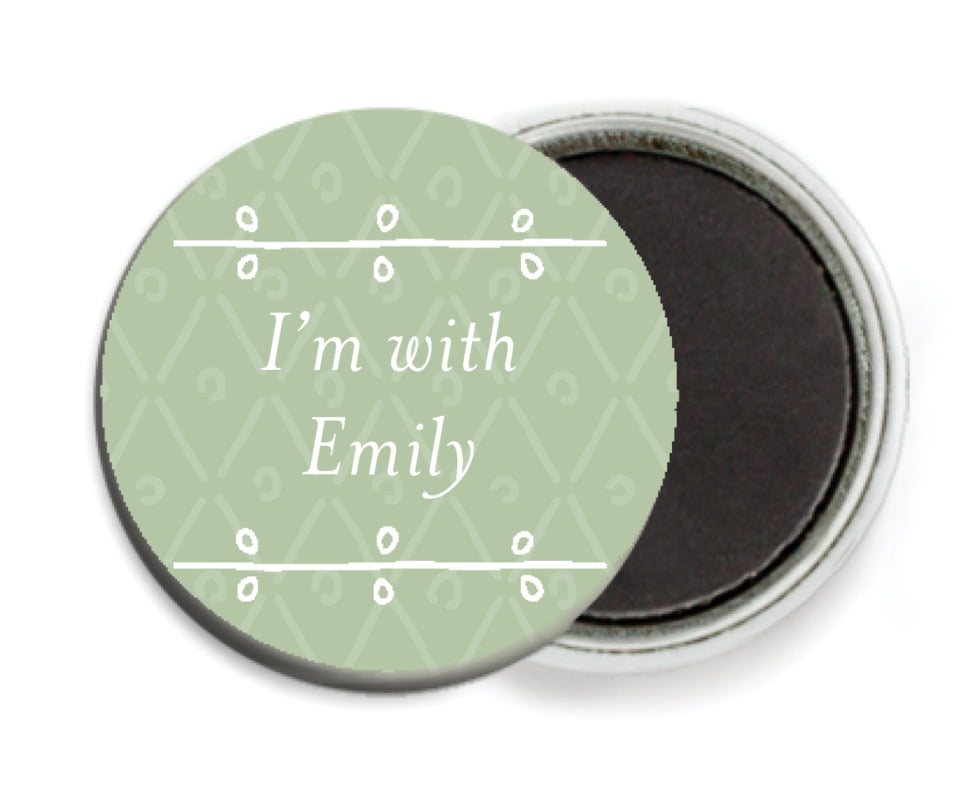 custom button magnets - sage - lucky in lace (set of 6)