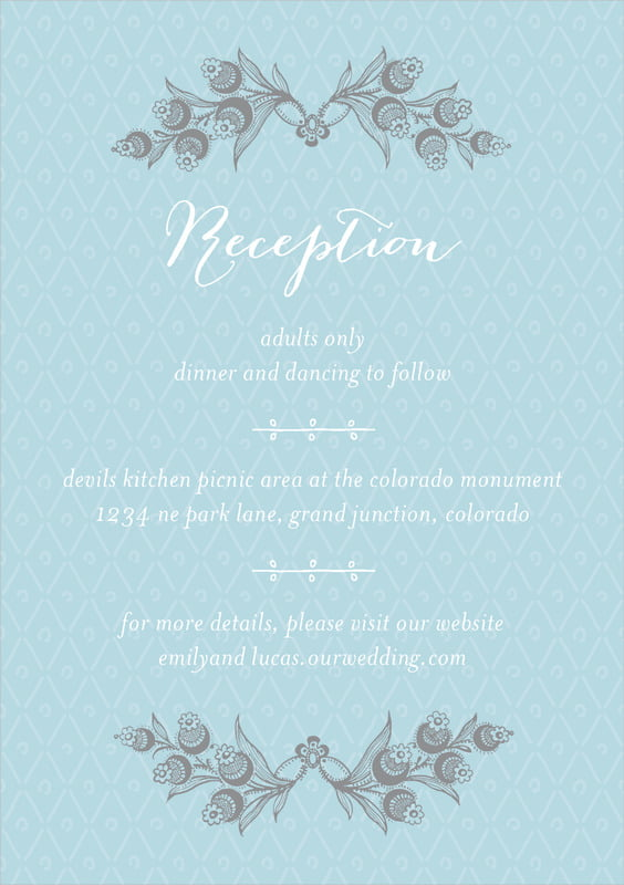 custom tall enclosure cards - blue - lucky in lace (set of 10)