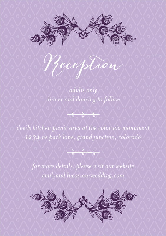 custom tall enclosure cards - lilac - lucky in lace (set of 10)