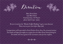 custom enclosure cards - purple - lucky in lace (set of 10)