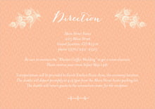 custom enclosure cards - peach - lucky in lace (set of 10)