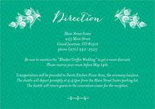 custom enclosure cards - kelly green - lucky in lace (set of 10)