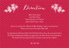 custom enclosure cards - deep red - lucky in lace (set of 10)