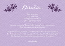 custom enclosure cards - lilac - lucky in lace (set of 10)