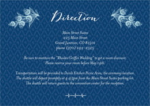custom enclosure cards - deep blue - lucky in lace (set of 10)