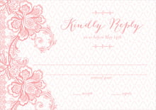 custom response cards - grapefruit - lucky in lace (set of 10)