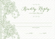 custom response cards - sage - lucky in lace (set of 10)