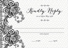 custom response cards - tuxedo - lucky in lace (set of 10)