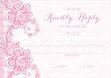 custom response cards - pink - lucky in lace (set of 10)