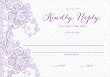 custom response cards - lilac - lucky in lace (set of 10)