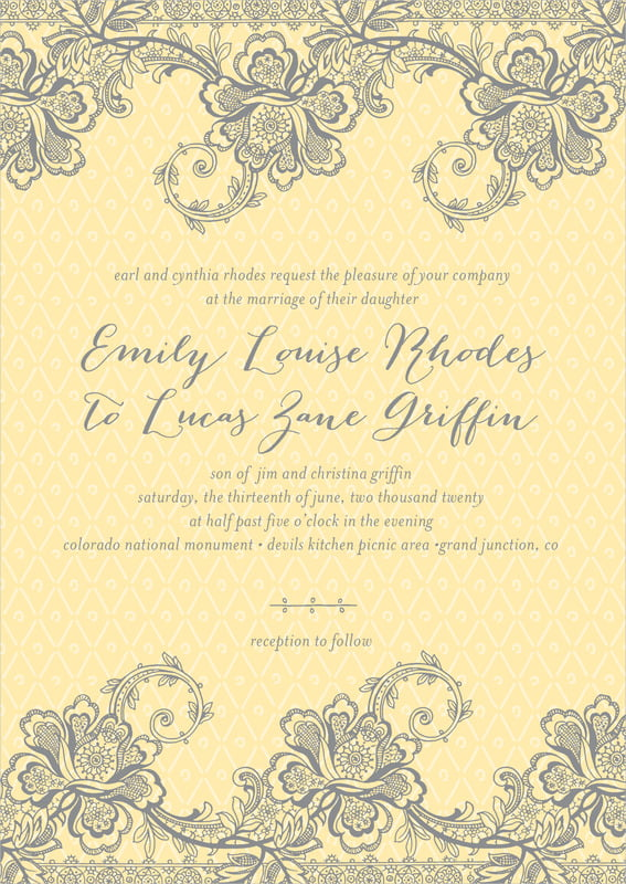 custom invitations - sunflower - lucky in lace (set of 10)