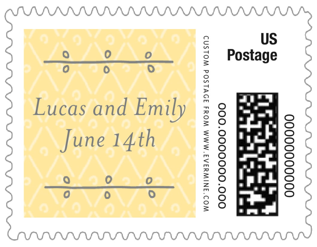 small custom postage stamps - sunflower - lucky in lace (set of 20)
