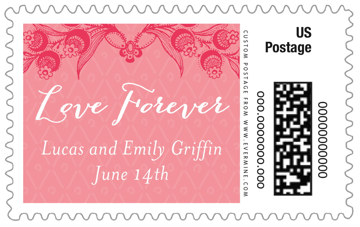 custom large postage stamps - grapefruit - lucky in lace (set of 20)