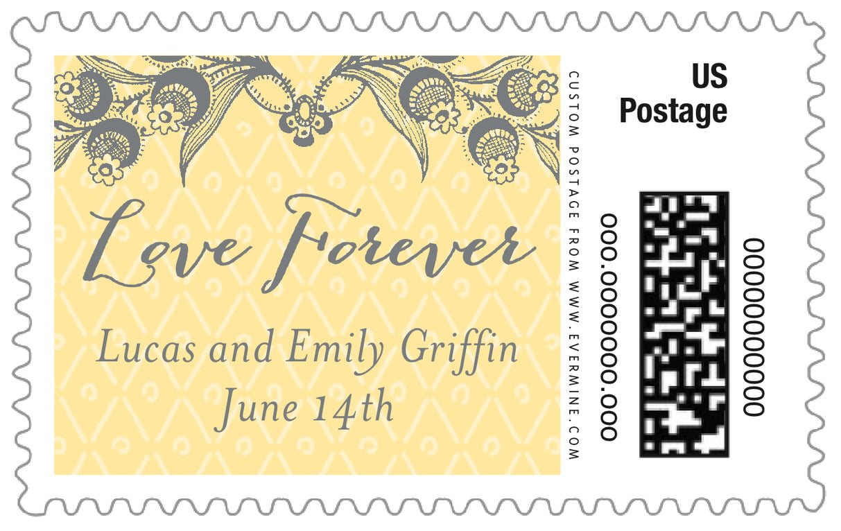 custom large postage stamps - sunflower - lucky in lace (set of 20)