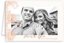 Lucky in Lace wedding thank you cards