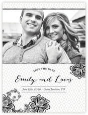 Lucky in Lace save the date cards
