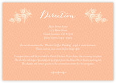 Lucky In Lace Enclosure Card In Peach