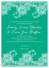 Lucky in Lace invitations