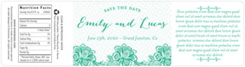 Lucky in Lace bottled water labels