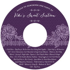 Lucky in Lace cd labels