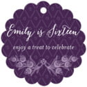 Lucky in Lace scallop hang tags