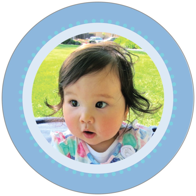 circle photo labels - periwinkle - lulu (set of 20)