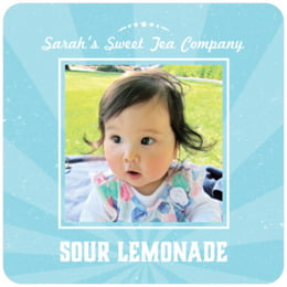 Lemonade Stand square coasters