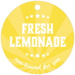 Lemonade Stand circle hang tags